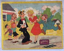 Vintage Blondie Dagwood Frame Tray Puzzle Comic Strip Cartoon 1960's Jaymar Toy