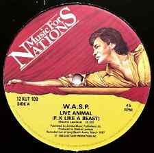 """W.A.S.P. - Live Animal (F..k Like A Beast) (12"""") (G/G)"""