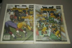 8 - 1999 University Of Michigan The Wolverine Mag Football Basketball Tom Brady