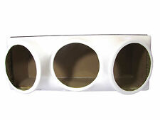 Triple 10 fiberglass sub woofer speaker box enclosure carpeted MDF case WHITE