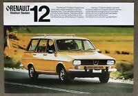 c1975 Renault 12 Station Sedan original Australian sales brochure
