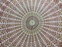 Queen Size  Bedding Bohemian Hippie Tapestry Indian Mandala Sheet 100% Cotton
