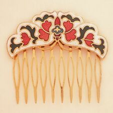 Cloisonné Steck-Kamm Schmetterling 518.4g -2 Butterfly haircomb gold color