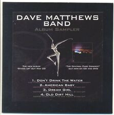 DAVE MATTHEWS BAND RARE Stand Up Australian PROMO Only Album Sampler CD