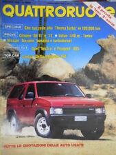 Quattroruote 406 1989 Nissan Terrano. Confronto Opel Vectra e Peugeot 405 [Q.8]