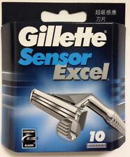 Gillette Sensor Excel Refill Razor Blades - 10 Cartridges