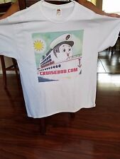 NEW Fruit of Loom Men's Heavyweight XL 100% Cotton T-Shirt w/CruiseBob.com logo