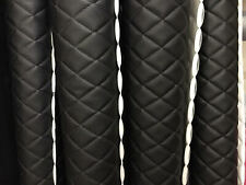 Vinyl Leather Faux vinyl Black Quilted auto headliner headboard fabric by yard