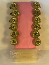 Vtg 12 Victorian Pine Cone Clip On Christmas Tree Candle Holders W/ Candles