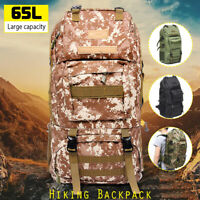 65L Outdoor Military Rucksacks Tactical Bag Camping Hiking Trekking Backpack