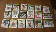 1976-77 NEW YORK ISLANDERS HOCKEY CARDS PARTIAL TEAM SET - 18 CARDS
