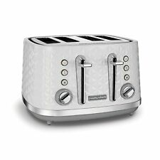 Morphy Richards Vector White 4 Slice Toaster 1800W Wide Slot 248134