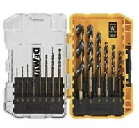 BRAND NEW DeWalt DWA1184 14 PC Black Oxide Drill Bit Set NEW CLEAR TOUGHCASE +