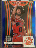Coby White 2019-20 HOOPS PREMIUM Stock WE GOT NEXT ROOKIE BLUE PRIZM Bulls *Note