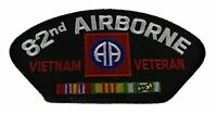 US ARMY 82ND AIRBORNE DIVISION ABD VIETNAM VETERAN PATCH W/ CAMPAIGN RIBBONS