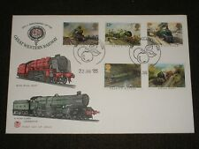 1985 GB FAMOUS TRAINS STUART First Day Cover TAUNTON PHILATELIC SALES Cancels