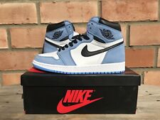 Size 9.5 Nike Air Jordan 1 Retro High OG White University Blue Black 555088-134