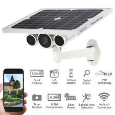 HD 720P Outdoor Wireless WiFi Solar Power Bullet IP Camera Onvif Waterproof S7F9