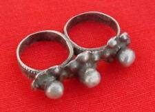 Ring For Tow Finger Antique Tribal Old Silver Double