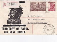 Papua New Guinea 1953 Territory of Papua New Guinea FDC Registered Mail VGC