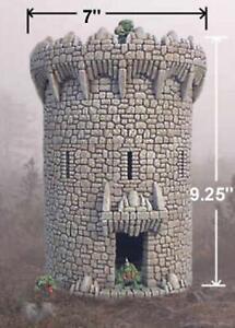 Wargames Scenery Terrain D&D Warhammer 25mm - Fieldstone Tower 2
