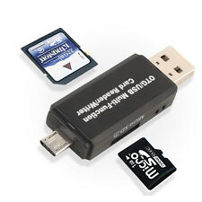 Micro USB OTG to USB 2.0 Adapter Micro SD Card Reader For TF Cell Phone Tablet