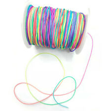 100M Diy Beading Cord Thread Stretch String Rainbow Coloured Round Elastic Cord