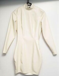White Latex Dress Size S Chlorinated Latex Crazy