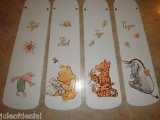 CUSTOM CEILING FAN w/ CLASSIC WINNIE THE POOH BEAR TIGGER PIGLET EEYORE -NURSERY