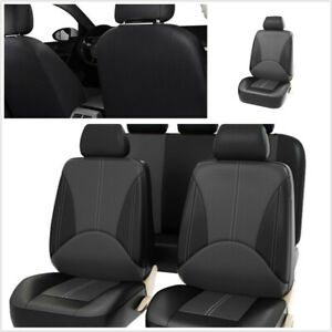 9Pcs PU Leather Car Seat Protect Cover Universal Fit For Car Front+Rear Seat