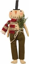 "New!~Primitive Christmas 15"" Skinny Snowman Doll~Herb tree/vintage/retro/top hat"