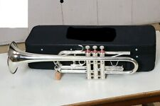 Professional Trumpet C Silver Plated Expert's Choice with Hard Case & Mouthpiece