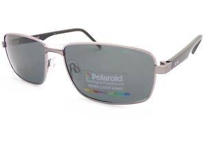 POLAROID metal Ruthenium-Black Sunglasses Dark Grey Polarized Lenses PLD2041 FAE