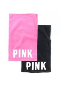 "Victoria's Secret PINK Spa Gym Workout Towel 26"" Pink / Black YOU PICK"
