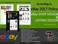 Full complete Professional custom eBay Shop / Store  design  service and install