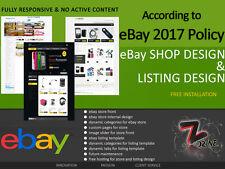 FULL COMPLETO Professionale Personalizzati eBay Negozio/Store servizio di progettazione e installazione