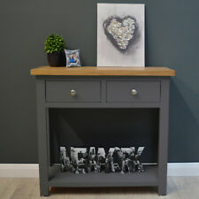 Painted Console Table Oak / Dark Grey / Hallway / Solid Wood / Side Table Trend