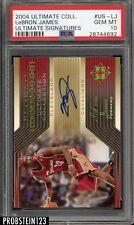 2004-05 UD Ultimate Signatures LeBron James Cavaliers AUTO PSA 10 POP 2