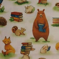 Forest Animals Books PAINTBRUSH STUDIOS All Cotton Fabric Scant 7/8 YARD