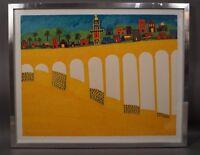 Yeshayau Sheinfeld Scheinfeld (1909-79 Israel) Landschaft in Gelb - Naive Kunst