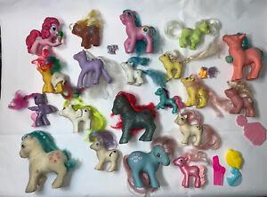 Vintage 1987 Hasbro G1 My Little Pony Unicorn Baby Flock Figure Set Lot MLP