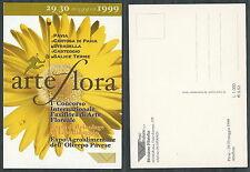 1999 ITALIA CARTOLINA PAVIA ARTE FLORA - DA