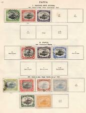 PAPUA/PALESTINE: 1901-1932 - Ex-Old Time Collection - 2 Sides Page (33157)