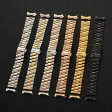 Curved Stainless Steel Solid Metal Bracelet Watch Strap Band Replacement 10-22mm