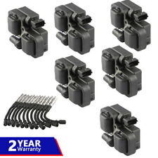 Kit Ignition Coils with Plug Wire Sets For Mercedes-Benz C CL CLK ML Class UF359