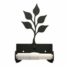 Wrought Iron Leaf Toilet Tissue Paper Wall Mount Holder Black Bathroom Hardware