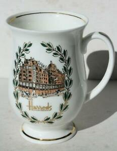 Harrods Knightsbridge Fine Bone China Coffee Mug Tea Cup Store Sign Horse Buggy