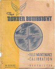 1943 Norden bombsight Field Maint/Calibration Manual Flight Manual - CD Version