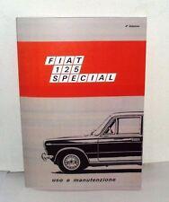Uso e manutenzione Fiat 125 Special 5 marce - 1600 cc-
