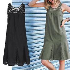 genial luftiges Sommerkleid Gr.34/36 XS/S SCHWARZ Sommer Kleid 100% Baumwolle
